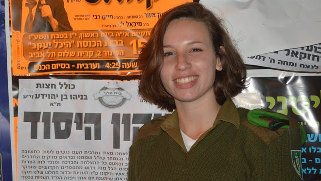 Pvt. Tali Goft volunteered with the Israeli Defense Forces, even though she was exempt from mandatory military service because of a benign spinal tumor.