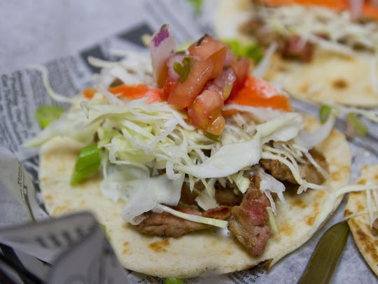 Korean tacos are among the most popular sellers at