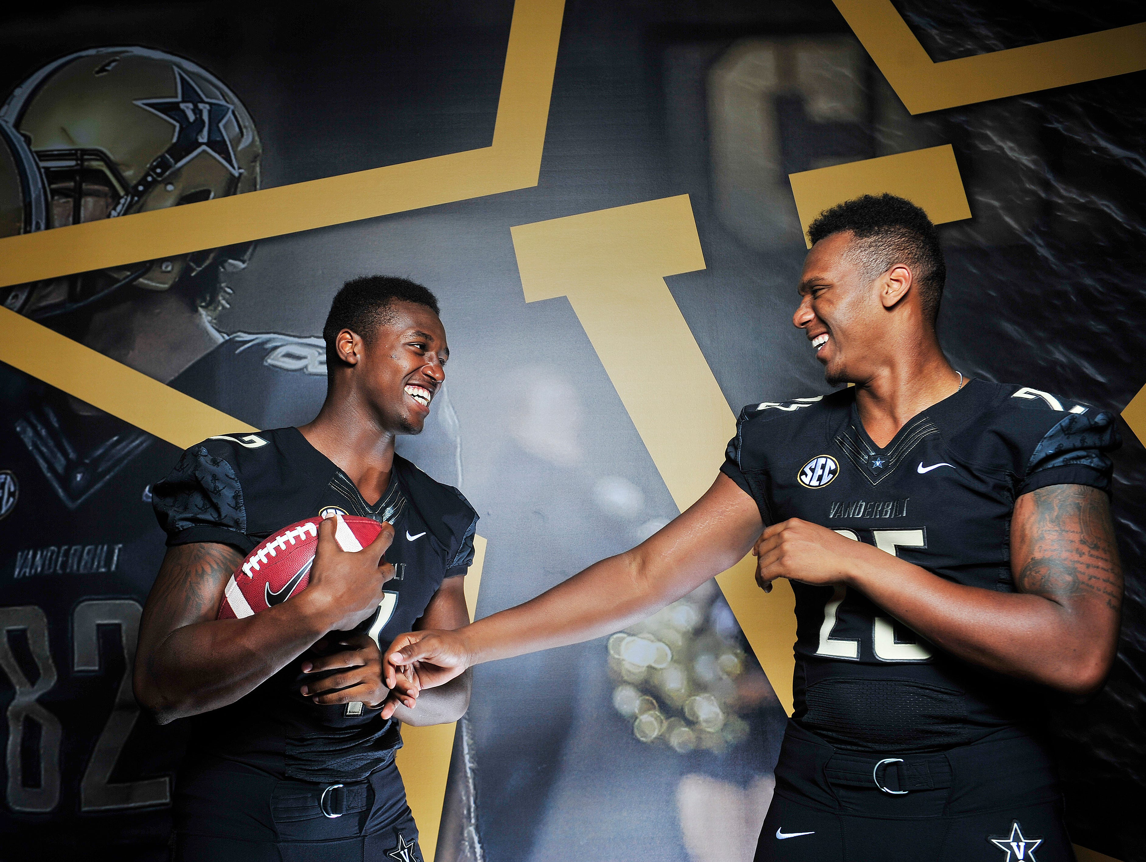Vanderbilt players and brothers Emmanuel Smith, left, and Josh Smith lived in adjacent rooms during preseason camp, but soon they will be in different dorms.