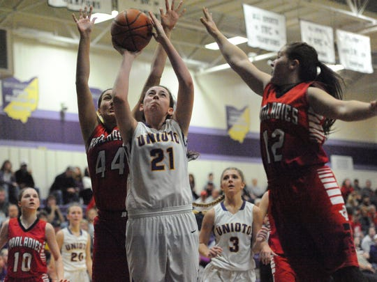 Unioto High School girls basketball's Jocie Fisher has taken an extra step in scoring and leadership this year as her and her team look to win SVC.