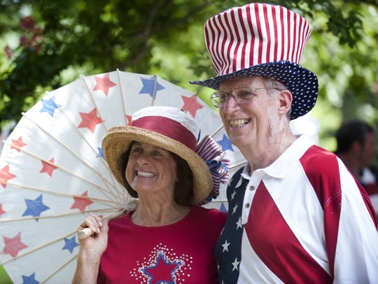 Connie and Charlie Colvin at the Cloverdale-Idlewild neighborhood Independence Day Parade in Montgomery, Ala., on Saturday July 4, 2015.
