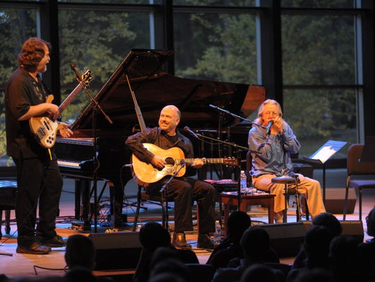The members of Triple Play perform jazz and the blues