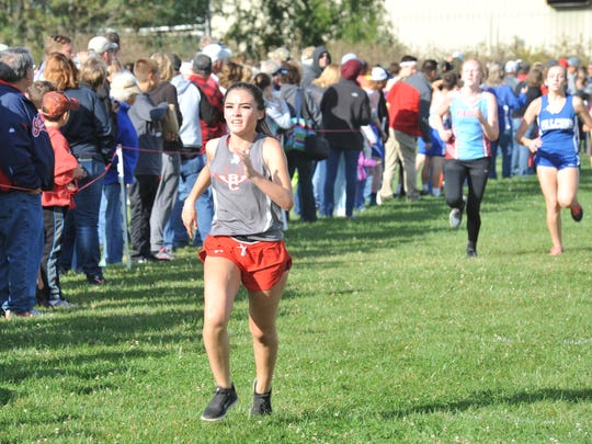 Buckeye Central's Katy Hagerty led the way for the Buckettes at their home invitational.
