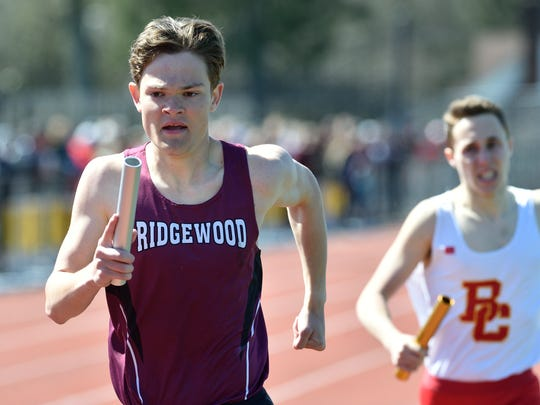 Will Baginski of Ridgewood runs anchor in the boys