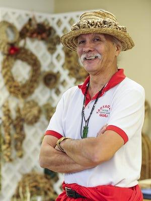 Master of Chamorro Dance Frank Rabon poses for a photo at the Pa'a Taotao Tano' office in Hagatna on June 10.Rick Cruz/Pacific Daily News/rmcruz@guampdn.com