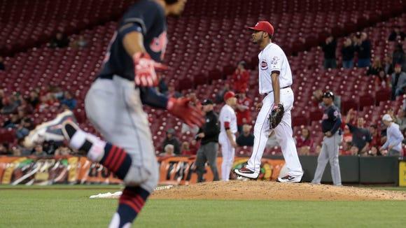 Cleveland Indians shortstop Francisco Lindor (12),