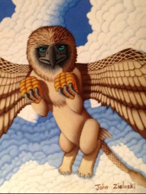 """The Majestic Griffin"" is only one of the fantasy figures with personality that will open at Inspiration Studios, West Allis."