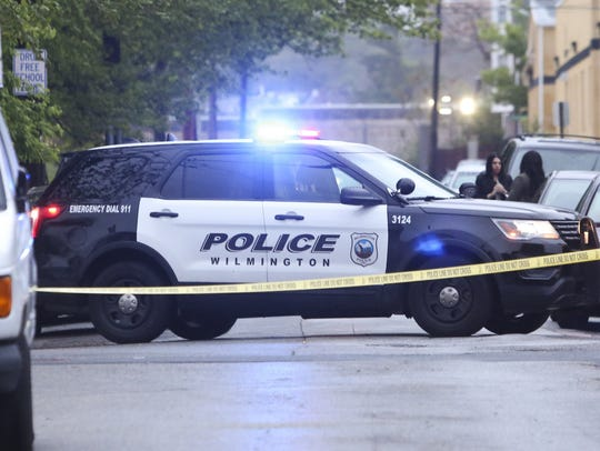 Police investigate after a shooting reported in the