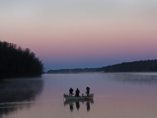 Paddlers get a rare chance to fish at night at Fellows