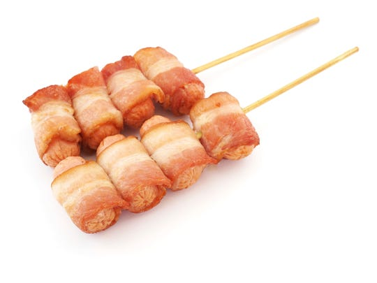 New food options include bacon on a stick.