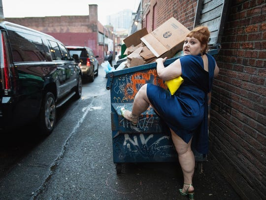 "Ditto climbs a dumpster after a screening of ""Don't Worry, He Won't Get Far on Foot"" at Seattle International Film Festival on June 10."
