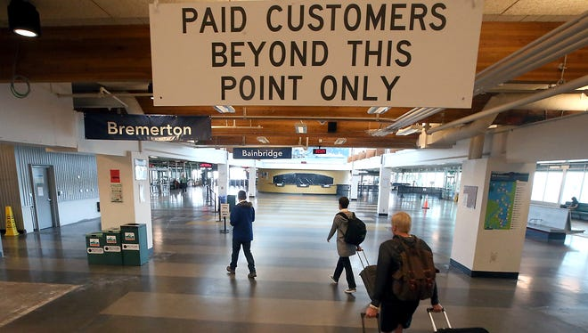 Passengers for both the Bremerton and Bainbridge runs will now board from the southern part of the Colman Dock building, which previously had been for Bremerton passengers only.