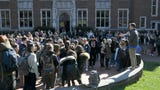 Students walkout on the campus of Vanderbilt University and read the names of the victims of the shooting in Parkland, FL