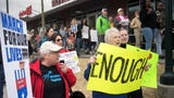 Dozens of demonstrators marched the streets of downtown Jackson on Saturday, March 24, 2018, during Jackson's March for our Lives rally.