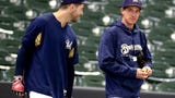 Before Wednesday's game vs. the Indians, Brewers manager Craig Counsell discusses the return of reliever Corey Knebel.
