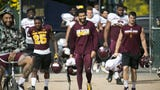 ASU football players Jay Jay Wilson and Jalen Harvey react to head coach Herm Edwards' comments about cutting players. David Wallace/The Republic