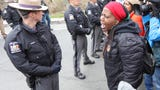 Black Lives Matter activists explain the reasons behind a women's march on Saturday. Ricky Flores/lohud.com