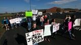 Willard High School students, parents and teachers protest the removal of a popular choir teacher.