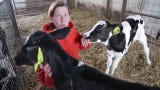 Heather Jauquat talks about damage to her farm and a calf named Miracle born during the storm.