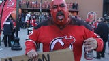 The New Jersey Devils face the Tampa Bay Lightning in Game 4 as their fans get fired up during Fan Fest prior to the game.