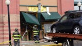 An SUV crashes into the Barnes & Noble bookstore on Route 3 in Clifton, NJ
