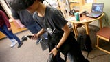 Students tried out emerging technology including the HoloLens augmented reality headset