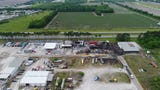 Aftermath of a chemical fire at FlowChem in Duson, LA.  This is drone footage obtained by The Advertiser's FAA licensed drone pilots.