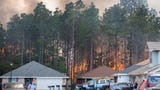 Pensacola residents say they are grateful to firefighters who saved their homes as a wildfire threatened their Weatherstone neighborhood.