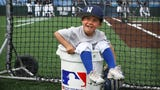 Meet the youngest member of the Nevada baseball team, 4 year old Jaxon Bruce.