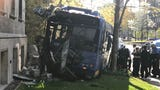 A  Milwaukee County Transit System bus crashed into Johnston Hall on the Marquette University campus after the driver lost control.