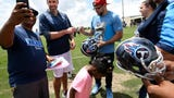 Titans continue with offseason practices.
