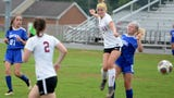 Rissa Martin describes her penalty kick that won the game for Stuarts Draft in the fourth overtime Monday.