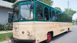 """Take a quick peek at Pensacola's newest food truck. Only, it's not a food """"truck,"""" it's a trolley, and it serves real Mexican food."""