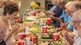 Sun City octogenarians gather at Palm Desert Wendy's for Shabbat every Friday for the past seven years.