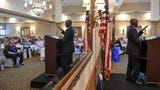 Mayor Terence Roberts leadership skills advice to Anderson Area Chamber of Commerce luncheon crowd