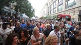 The jazz festival's offering of a variety of music drew crowds.