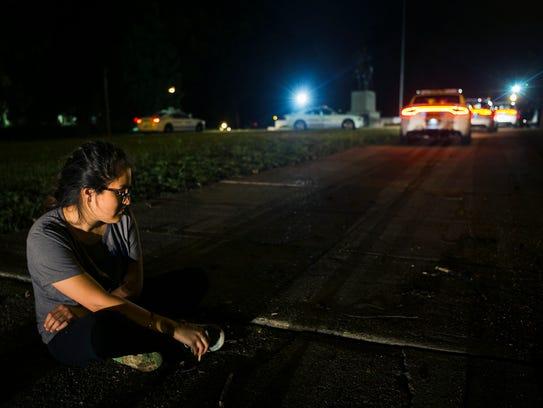 August 15, 2017 - Activist Yuleiny Escobar quietly