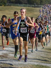 Central Magnet's Jordan Shirley finished 17th in the A-AA state meet.