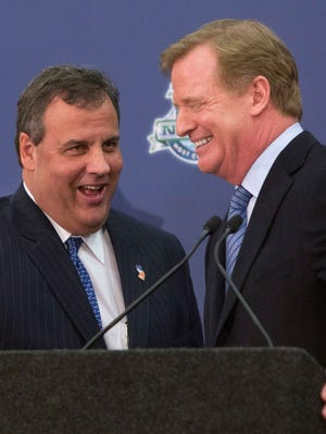 Chris Christie and Roger Goodell are excited for the Super Bowl in New Jersey.