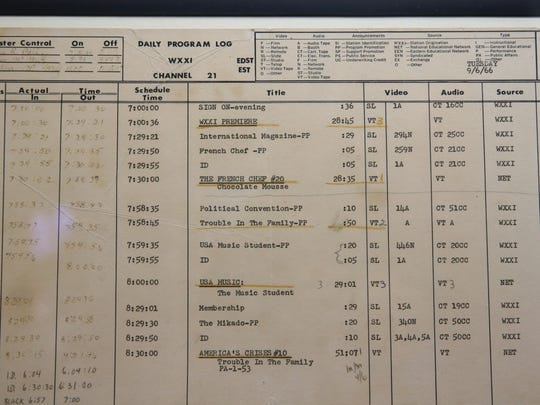 The very first master control log from the first day