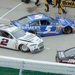 NASCAR drivers swap paint, threats