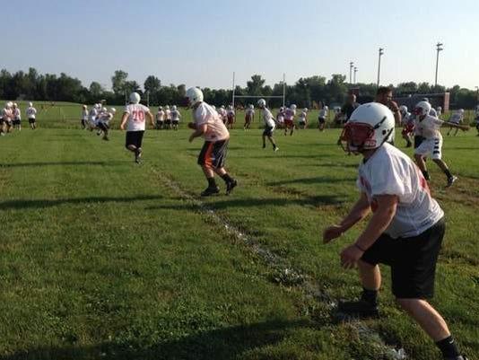 Hilton football practice
