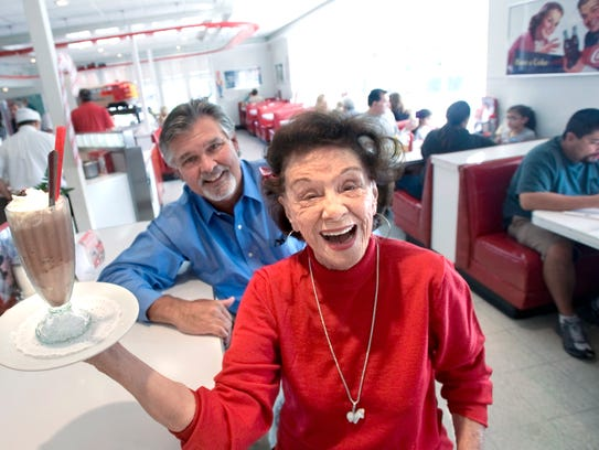 Ruby's Diner CEO and founder Doug Cavanaugh, left,