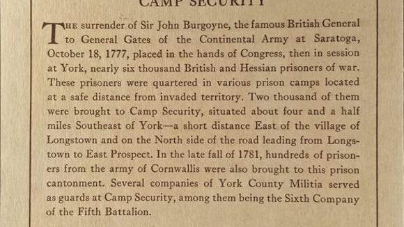This is a description of Camp Security's place in history
