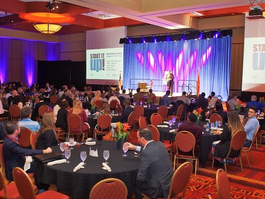 """A large crowd turned out for the Start It Up Conference held Friday, Oct. 27, at Embassy Suites in Murfreesboro. MTSU's Jones College of Business hosted the conference, which featured """"Shark Tank"""" star Daymond John and entrepreneur/magician Vinh Giang."""