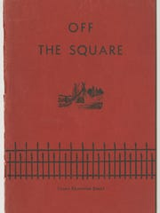 """Off the Square in Springfield"" book cover ca. 1945"