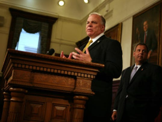 Senate President Steve Sweeney (Governor's Office/Tim Larsen)