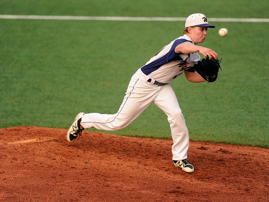 Wylie pitcher Hutton Frazier (37) throws a pitch during