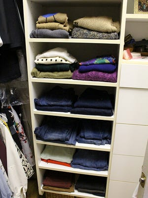 """""""After"""" closet makeover. Follow Katy Nagel's tips and edit out what you don't need and get organized."""