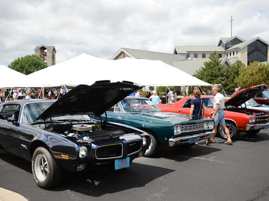 A classic car show was part of the fun during St. Mary Catholic Church's picnic on Sunday in Ledgeview.